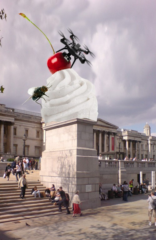 18. Heather Phillipson_THE END_fourth plinth sketch